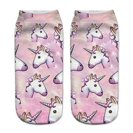 MI Calcetines de algodón de Dibujos Animados de Unicornio 3D Estilo Chicas niños Lindos