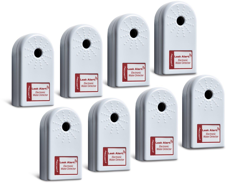 Zircon Leak Alert Contactor Pack - Electronic Water Detector with Audio Alarm (8 Pack) - Batteries Included - FFP
