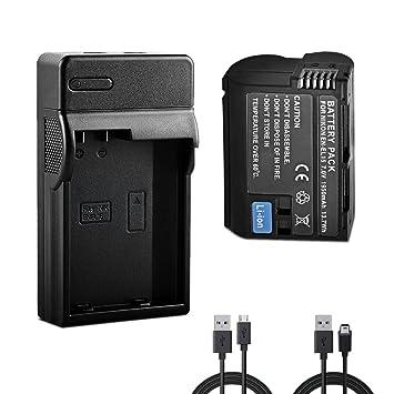 BPS EN-EL15 batería de Repuesto + USB Charger para Nikon D7000 ...