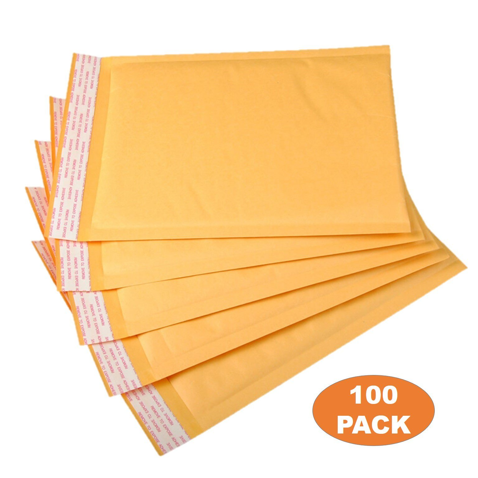 OfficeKit Kraft Bubble Mailers #0 6X10 Inches Shipping Padded Envelopes Self Seal Cushioned Mailing Envelope Bags 100 PACK