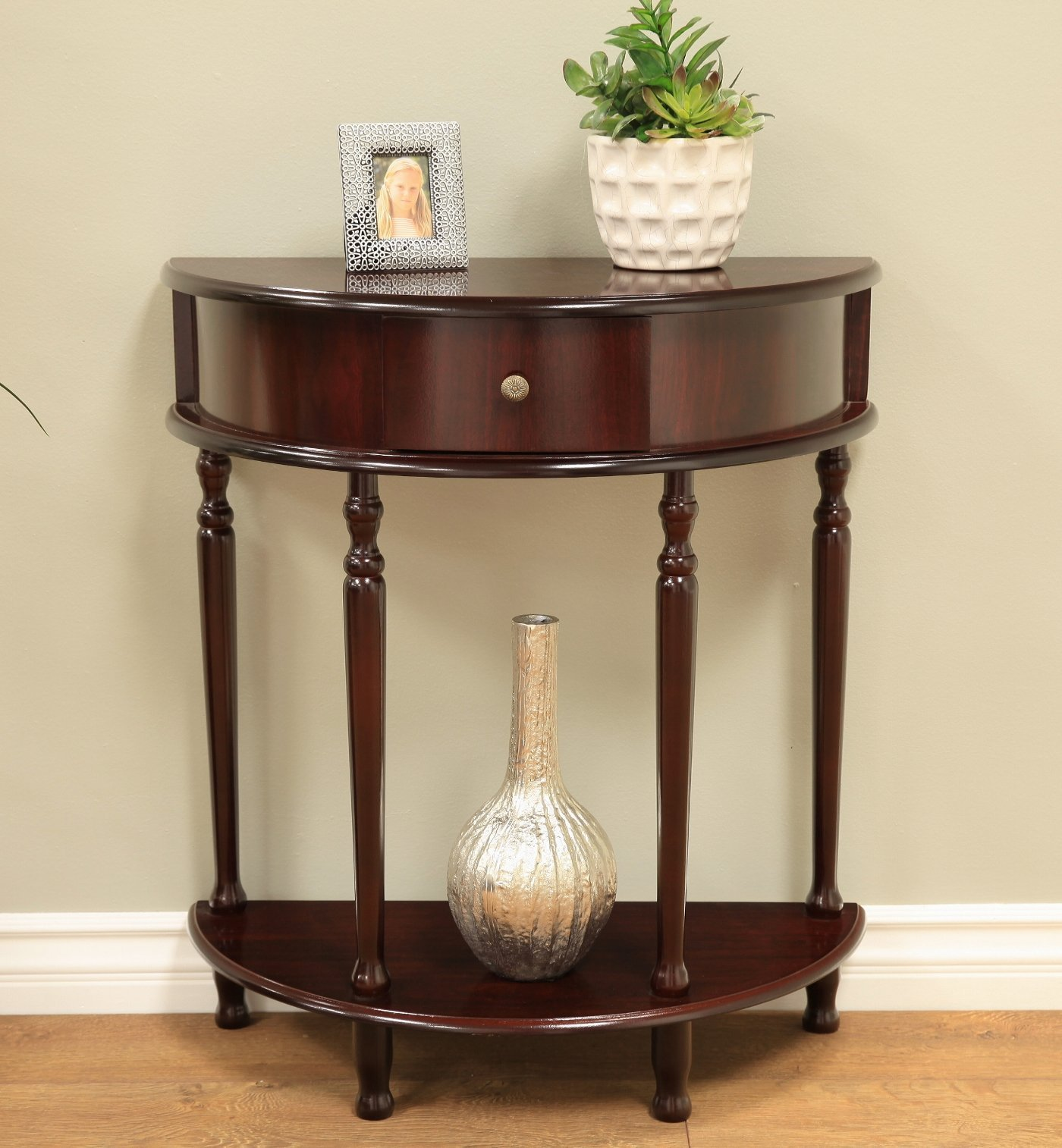 Frenchi Home Furnishing End Table/Side Table, Espresso Finish by Frenchi Home Furnishing (Image #2)