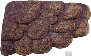 HEEPDD Turtle Floating Island, Natural Simulation Habitat Rocks Resin Tortoise Basking Platform with Magnet Aquarium Stone Decor for Semi Aquatic Animals