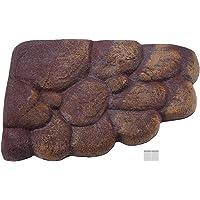 Turtle Floating Island, Natural Simulation Habitat Rocks Resin Tortoise Basking Platform with Magnet Aquarium Stone Decor for Semi Aquatic Animals(Large)