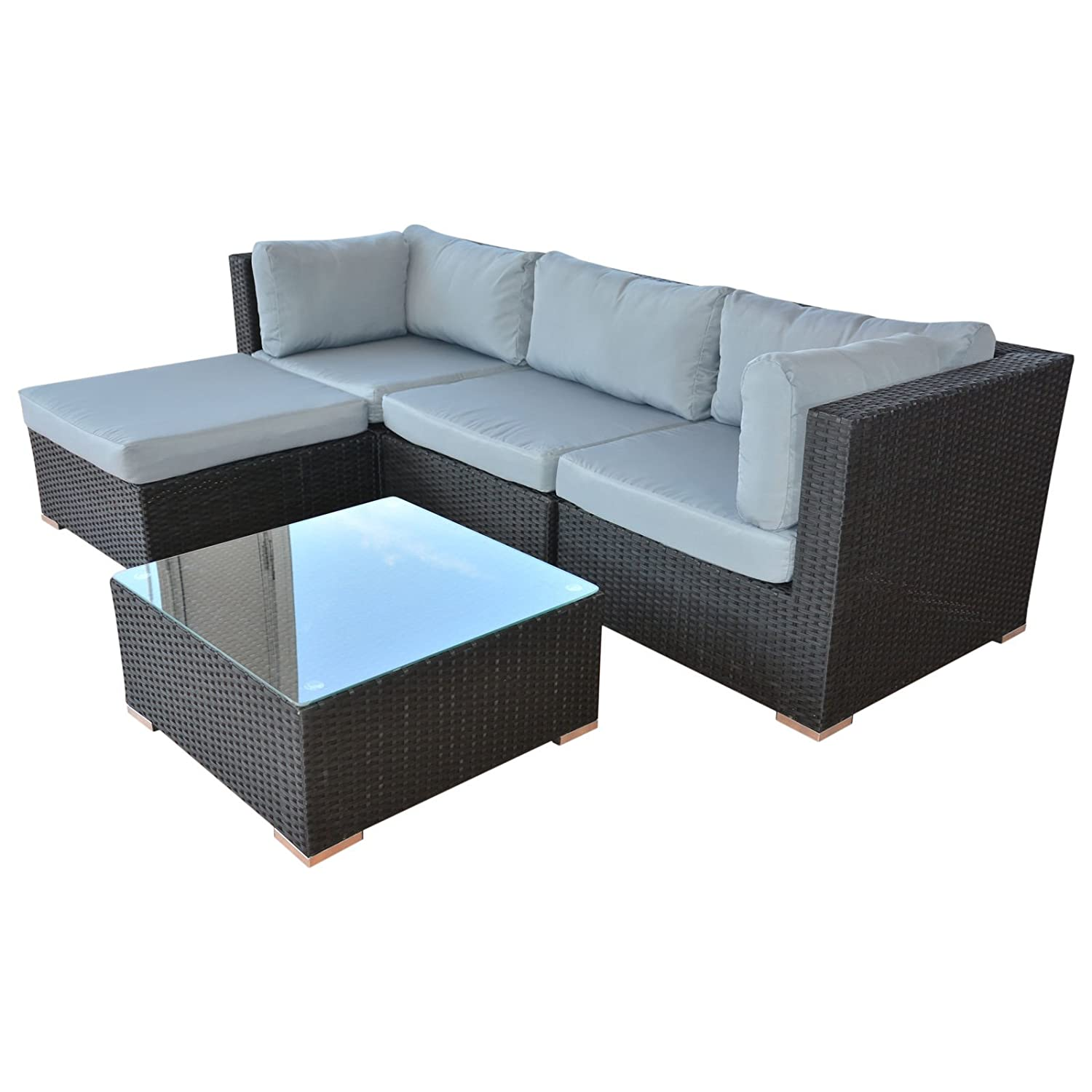 ssitg polyrattan lounge sitzgruppe gartenm bel garnitur poly rattan sitzpl tze g nstig kaufen. Black Bedroom Furniture Sets. Home Design Ideas