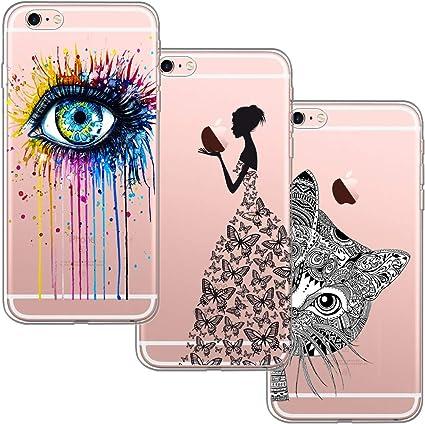 3 Pack] Funda para iPhone 6, Funda iPhone 6S, Funda de Silicona ...