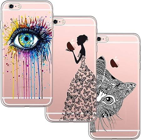 blossom01 [3-Pièces] Coque iPhone 6, Coque iPhone 6S, Ultra Mince Cute Motif Premium TPU Souple Etui de Protection pour iPhone 6 / 6S - Eye et ...