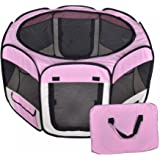 Small Pet Dog Cat Tent Playpen Exercise Play Pen Soft Crate