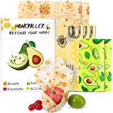 HONEYALLEY Reusable Beewax Food Wrap, 7 Pack Plastic Free Alternative for Food Storage, Eco Friendly Sustainable Bowl…