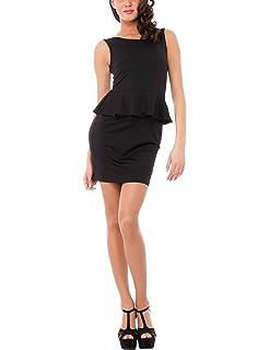 Womens Abito Smanicato Con Gonna a Pieghe E Bordi in Contrasto Dress Solo Capri