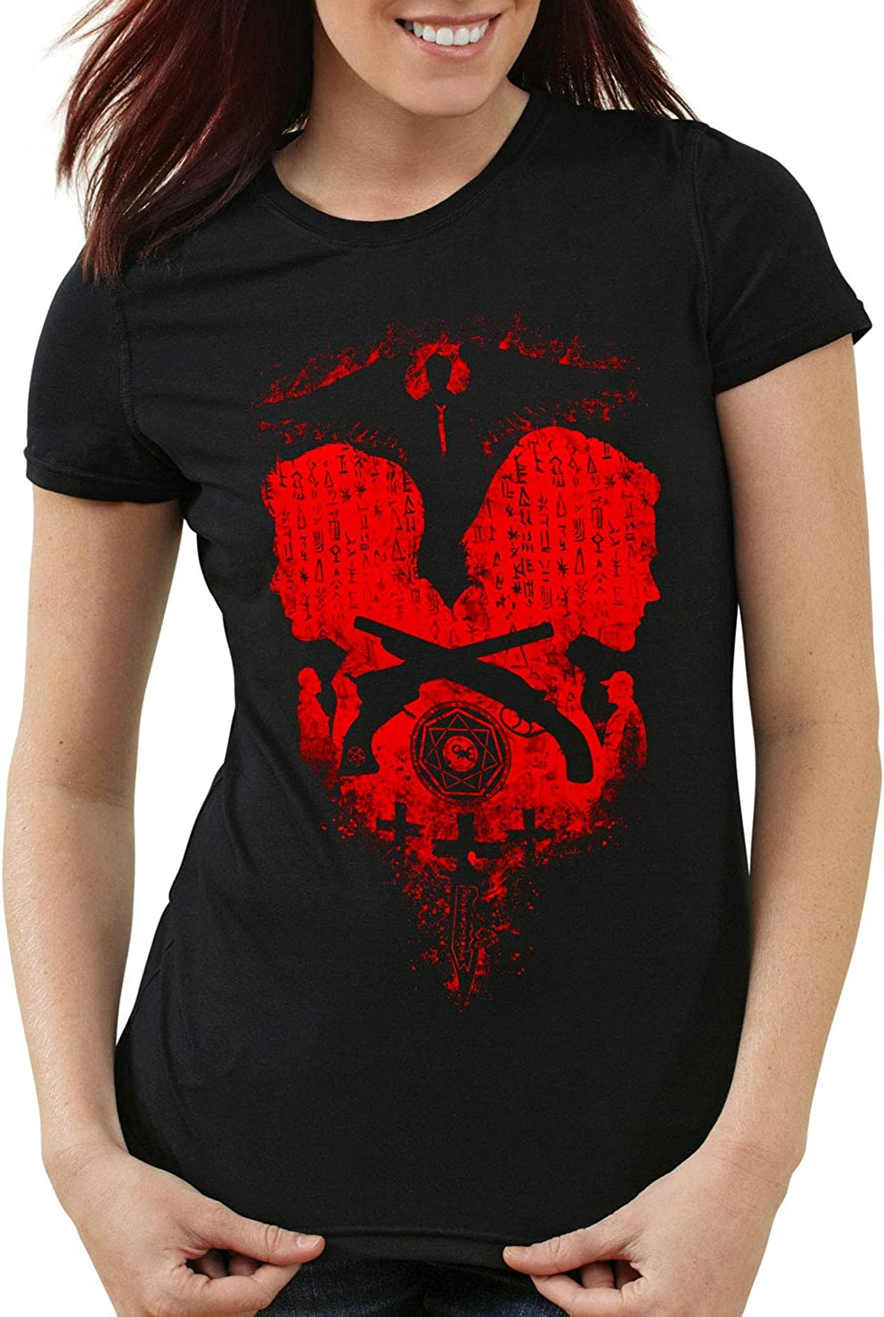 style3 Winchester Brothers Camiseta para Mujer T-Shirt Sam Dean Comic Serie televisiva