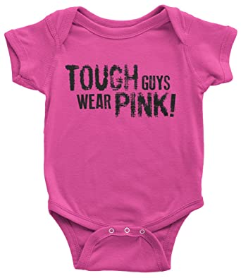 95c912ed7 Amazon.com  Threadrock Baby Boys  Tough Guys Wear Pink Infant ...