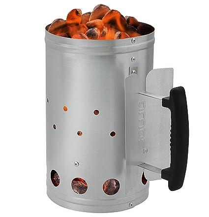Anzündkamin Kohlestarter Schnellanzünder Grillkohle-Anzünder Grill-Starter BBQ