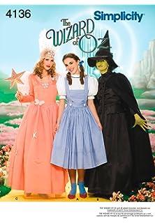 Amazon.com: Simplicity Pattern Childs Wizard Of Oz Costume Pattern ...