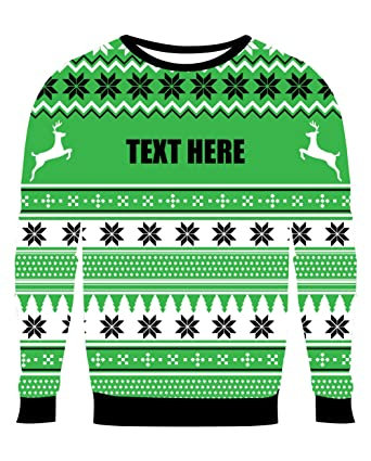 custom embroidery green ugly christmas sweater with black text adult small - Custom Christmas Sweater