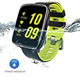 GV68 Health Smart Watch with 1.54 inch Large HD LCD Display, IP68 Wireless Bluetooth Call Remind Auto Sleep Monitor Sport Pedometer Fitness Tracker for Android IOS Phones