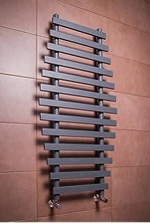 Termoarredo radiatore scalda salviette per bagno 450x1200mm nero ...