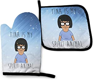 Ffashionshirt Bob's Burgers Oven Mitt and Pot Holder Set Heat Resistant Waterproof Household Kitchen Supplies