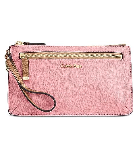 Calvin Klein - Cartera de mano con asa para mujer rosa rosa ...