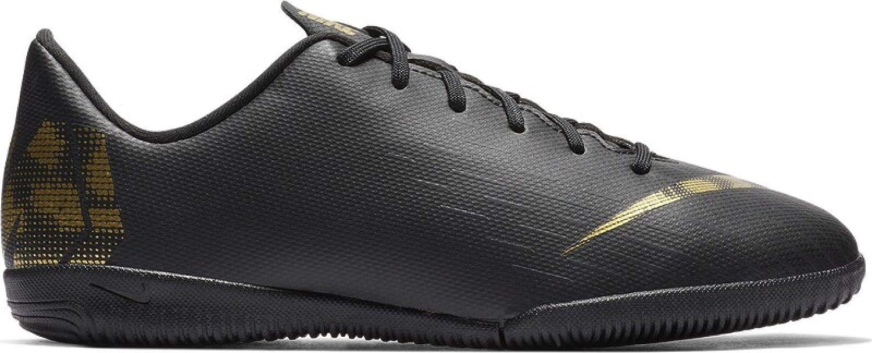 Noir (noir Mtlc Vivid or 077) 37.5 EU Nike Vaporx 12 Academy IC, Chaussures de Football Mixte Enfant