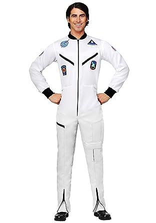Adult White Astronaut Jumpsuit Costume Medium  sc 1 st  Amazon.com & Amazon.com: Adult White Astronaut Jumpsuit Costume Medium: Clothing