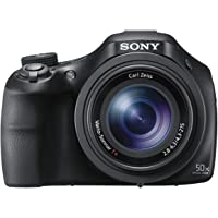 Sony DSCHX400VB.CEH Digital Compact Bridge Camera with High Quality Lens (Electronic View Finder, 20.4 MP, 50x Optical High Zoom, Wi-Fi, NFC) - Black
