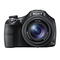 Sony DSCHX400V Digital Compact Bridge Camera with High Quality Lens (Electronic View Finder, 20.4 MP, 50x Optical High Zoom, Wi-Fi, NFC) - Black