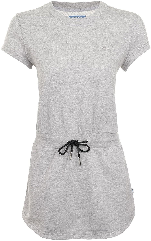 ADIDAS ORIGINALS Jerseykleid mit Logo Streifen in Grau