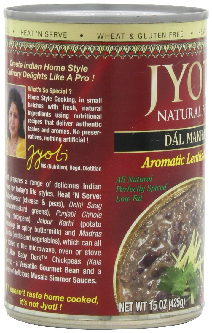 Jyoti Natural Foods Dal Makhani, Aromatic Lentils and Beans, 425 gram Cans,  (Pack of 12) by Jyoti (Image #8)