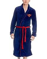 Peignoir de bain DC Comics Superman avec broderies logo, sous licence, cadeau pour fans de superhéros