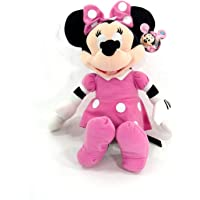 """Disney Mickey Mouse Clubhouse - Minnie Mouse 15"""" Inch Plush w/ Pink Dress and Bow"""