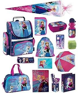 80fca8e9ac22c Disney die Eiskönigin Schulranzen-Set 25tlg. Sporttasche Regenschutz  Schultüte 85cm Frozen PL