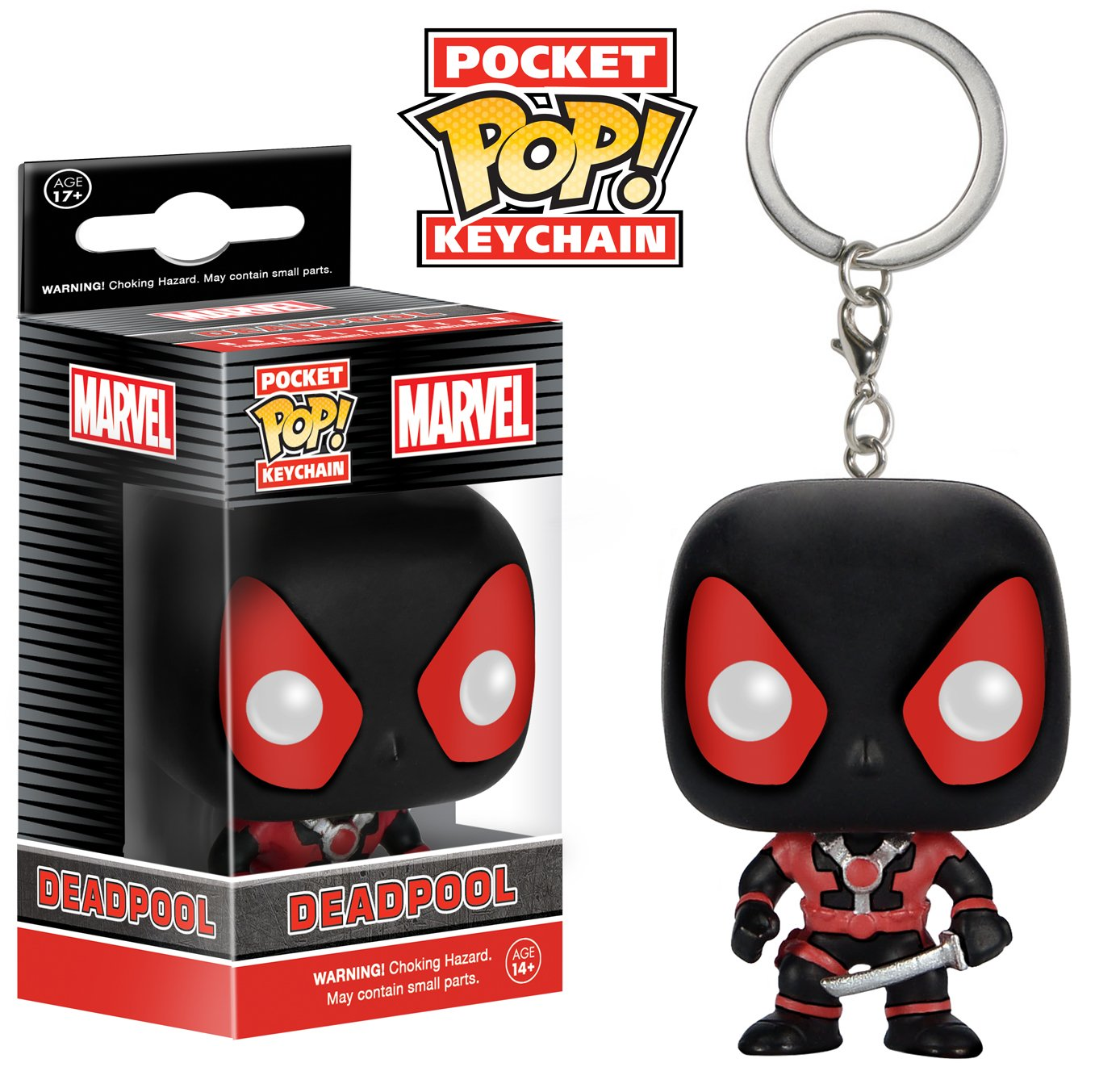 Funko POP Keychain Marvel Black Suit Deadpool Action Figure 7512 Accessory Toys /& Games