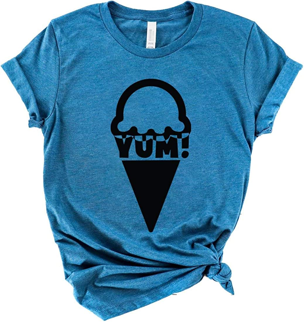 Yum T-Shirt Icecreams for Life Have Gone I'm Here Food Shirt Fun T-Shirts Ice Cream is Birthday Gifts Tee