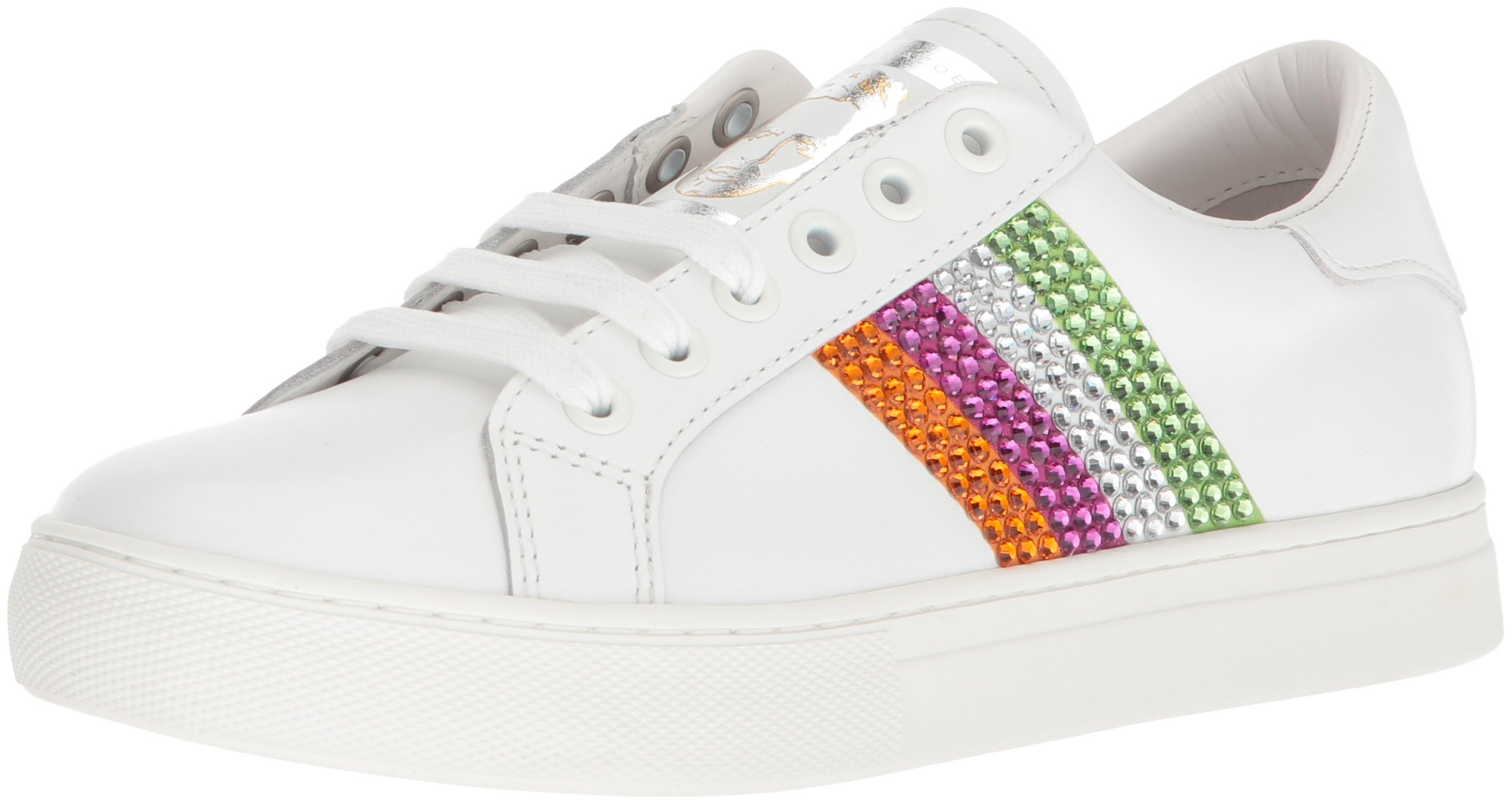Marc Jacobs Women's Empire Strass Low Top Sneaker, Pink/Multi, 39 M EU (9 US)