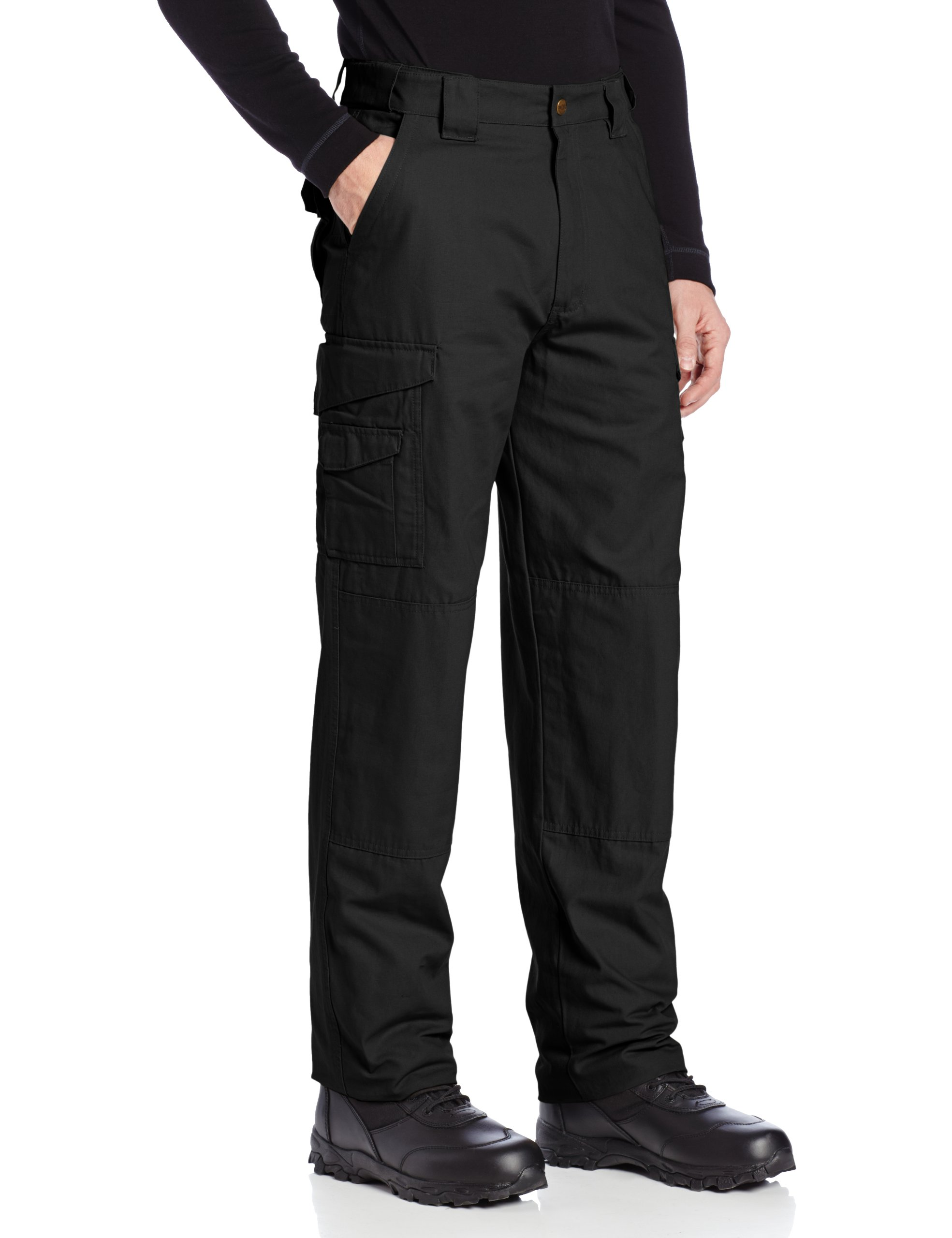 TRU-SPEC Men's Cotton 24-7 Pant, Black, 48-Inch Unhemmed