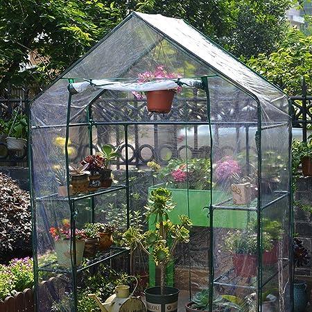 Invernadero de Jardín ,PE Garden Plantar Tiendas de Campaña, Cubierta de Invernadero Cálido A Prueba de Lluvia ,Plantación Exterior de Hortalizas / Flores Y Plántulas Planta de Invernadero: Amazon.es: Hogar