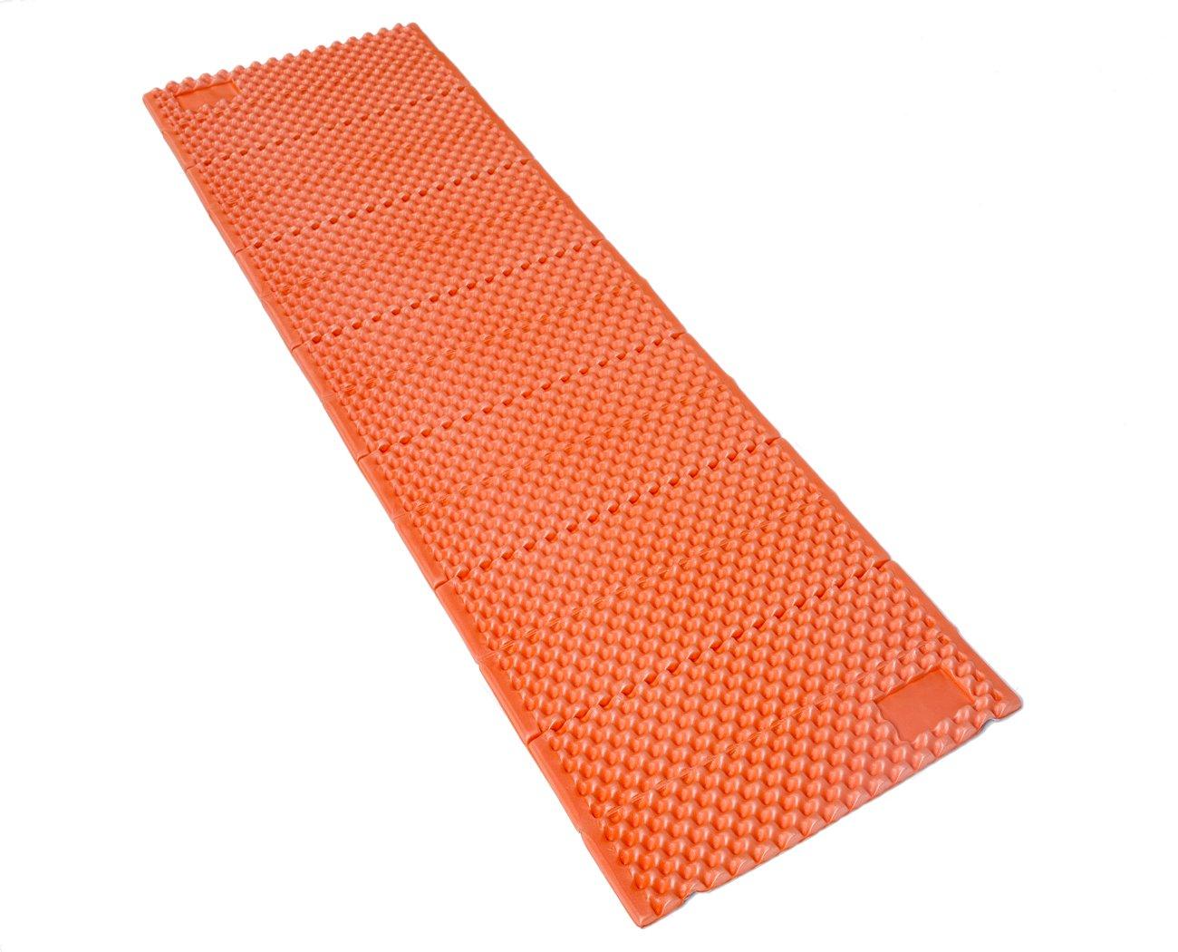 Geertop Camp Pad - Portable Lightweight Folding Foam Mat Mattress Cushion for Outdoor Hiking Camping Backpacking (Orange, Regular) by Geertop