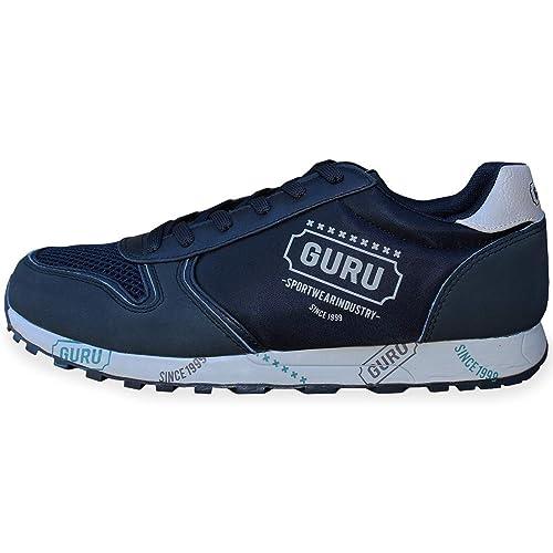 Casual Sarani Uomo Blu Basse Sportive Guru Stringate Scarpe Sneakers wP8OkNn0X