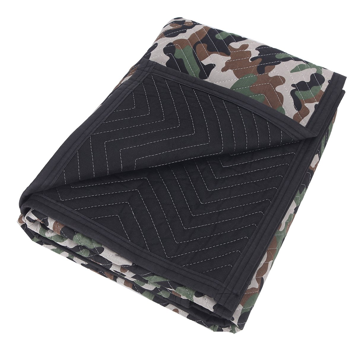 SOMIDE Luxury Camouflage Moving Blankets, Ultra Thick, Double Batting, Colorfast, 72'' x 80'', 5.8 Lbs/pc, Multi-Porpose for Pet Supplies, Sound Barrier, Hunting and Outdoor. by SOMIDE (Image #2)