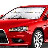 "Front Car Windshield Sunshade Standard Sun Shade Keeps Vehicle Cool-UV Ray Protector Sunshade-Easy to Use Sun Shade-Silver(35""X63.3"")"