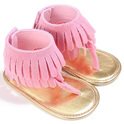 c2e8f0a18e8a Sinwo Toddler Girl Crib tassel Shoes Newborn Flower Soft Sole Anti-slip  Baby Sneakers Sandals