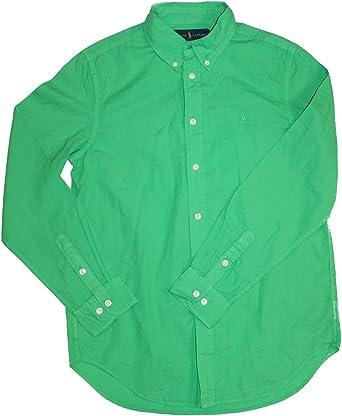 Polo_Ralph Lauren - Camiseta de manga larga - para niña Verde verde L: Amazon.es: Ropa y accesorios