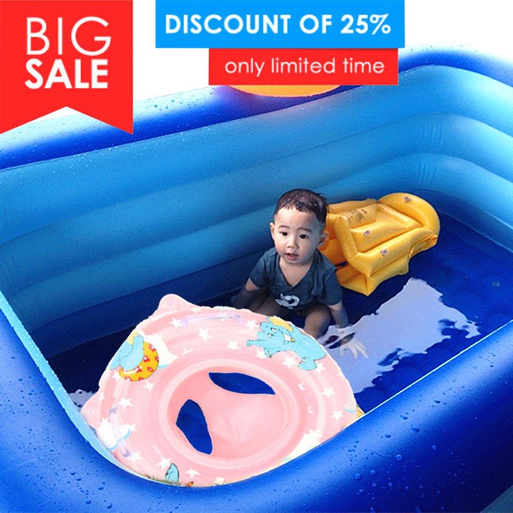eonkoo verano nuevo bebé piscina flotador asiento barco hinchable natación anillos PVC asa de tela asiento de seguridad salvavidas para niños los niños ...