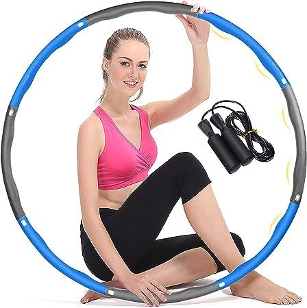 1,2 kg Abnehmbarer Hoola Hoop mit K/ühlhandtuch und Mini Bandma/ß Geeignet F/ür Fitness//Sport//B/üRo//Bauchformung Hula Hoop Reifen Erwachsene Die Zur Gewichtsreduktion und Massage Verwendet Werden K/öNnen