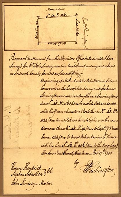 Map Of Virginia 1750.Amazon Com 1750 Map Virginia Frederick County Plat Of Survey For