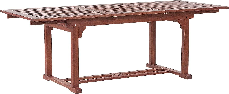 Mesa de jardín de Madera de Acacia Oscura 160/220x90 cm Toscana