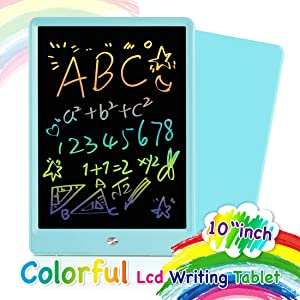 Orsen LCD Writing Tablet 10 Inch, Colorful Doodle Board Drawing Tablet, Erasable Reusable Writing Pad, Educational Christmas Boys Toys Gifts for 2 3 4 5 6 Year Old Boys(Blue)