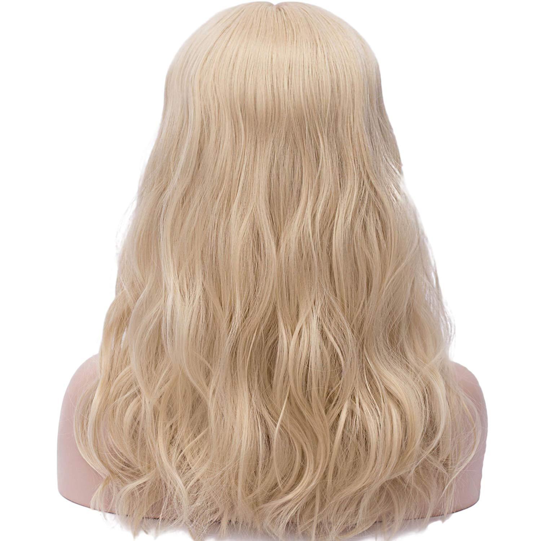 Milr/üme Per/ücke Damen Blond Ombre Bob Gewellt Gelockt Locken Nat/ürlich//F/ür Frauen Wig Alltag Anime Cosplay Kost/ümparty Halloween Karneval 022