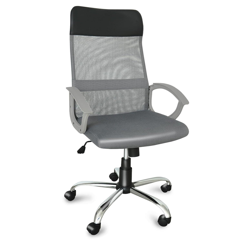 Bürostuhl ergonomisch höhenverstellbar  Design Bürostuhl mit Kopfstütze, Netzrücken & Armlehne ...
