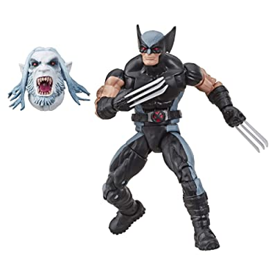"Marvel Classic Hasbro Marvel Legends Series 6"" Collectible Action Figure Wolverine Toy (X-Men/X-Force Collection) – with Wendigo Build-A-Figure Part, Brown/A: Toys & Games"